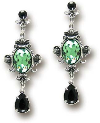 E273 - Queen of the Night Earrings by Alchemy of England