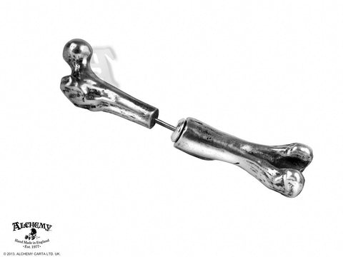 E322 - Femur Bone Earring by Alchemy of England