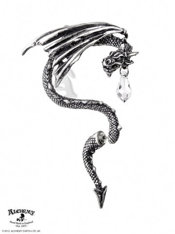 E330 - Crystal Dragon Ear Wrap by Alchemy of England