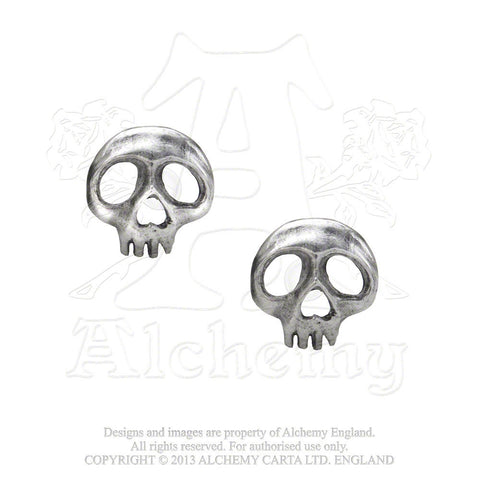 E343 - Skully Earrings by Alchemy of England