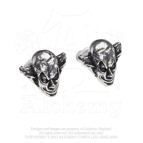 E386 - M'era Luna Evil Clown Studs - New
