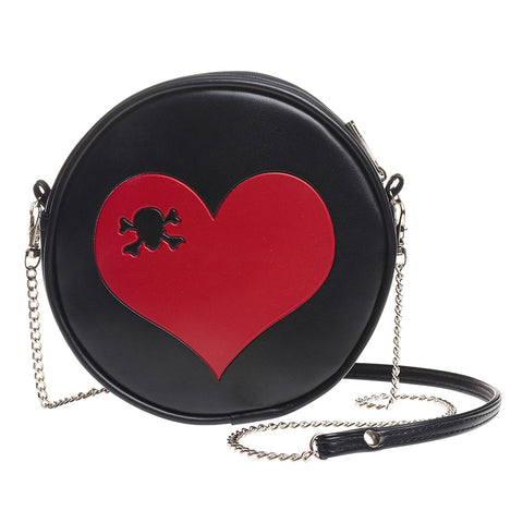 GB1 - Skull Heart Leather Bag by Alchemy of England - New