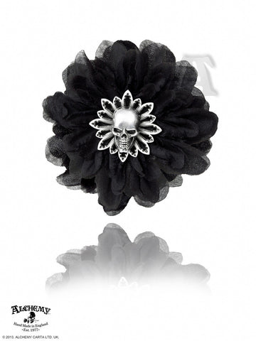 HC7 - Black Dahlia Hair Clip by Alchemy of England - Rare