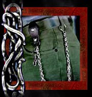 LG34 - The Passion English Pewter Wallet Chain by Alchemy Gothic - Rare
