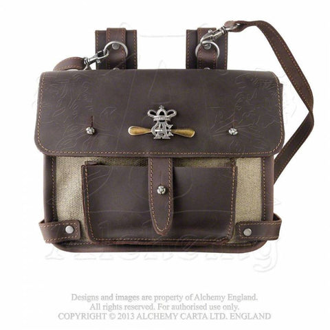 LG64 - Wing-Commander's Steampunk Attache Leather Pouch by Alchemy of England