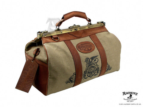 LG66 - 10,000 Leagues Gladstone World Traveler Leather Bag by Alchemy of England - Rare