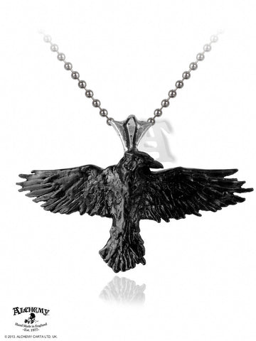 P193 - Black Raven Pendant by Alchemy of England