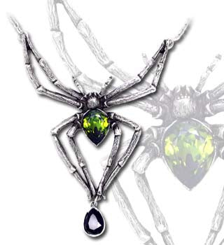 P432 - Emerald Venom Necklace by Alchemy of England