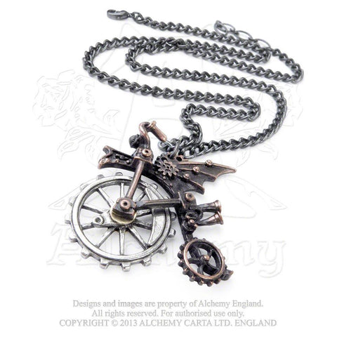 P651 - Ventus Traction Farthing Steampunk Pendant by Alchemy of England
