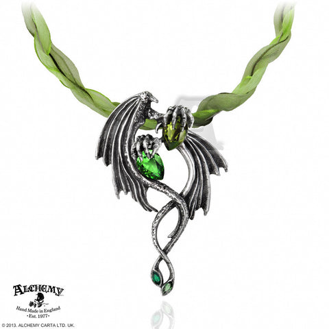 P676 - The Emerald Dragon Choker Pendant by Alchemy of England