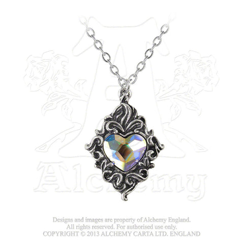 P711 - Crystal Heart Pendant by Alchemy of England