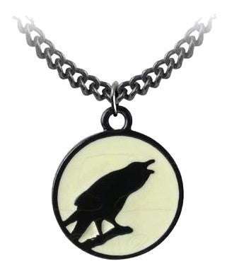 P735 - Caw at the Moon Pendant by Alchemy of England