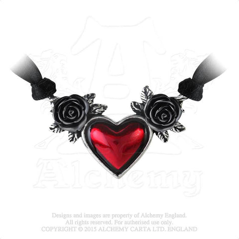 P746 - Blood Heart Necklace by Alchemy of England
