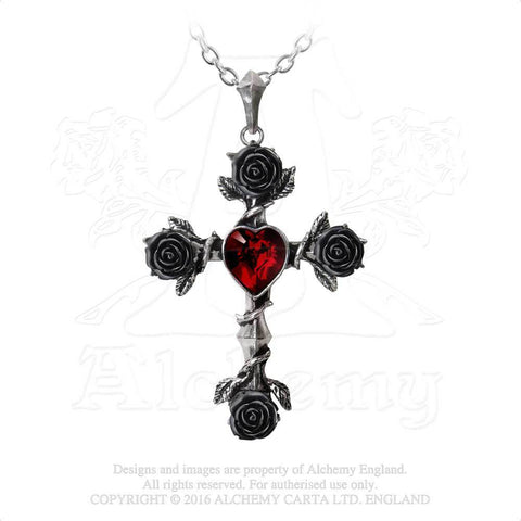P758 - Black Rosifix Necklace by Alchemy of England - New