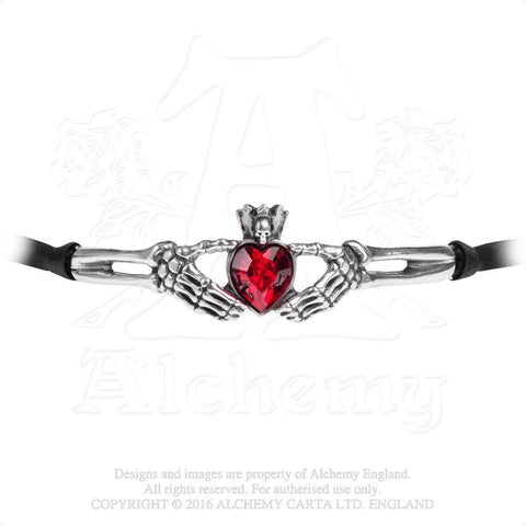 P781 - Claddagh By Night Choker by Alchemy of England - New