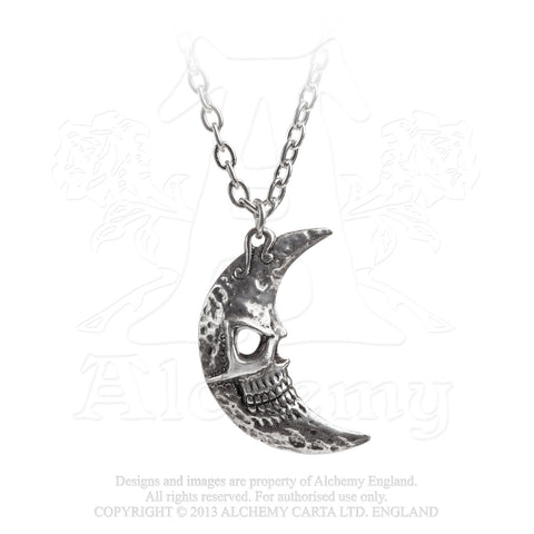P783 - Crescens Tragicom Moon Pendant by Alchemy of England - New