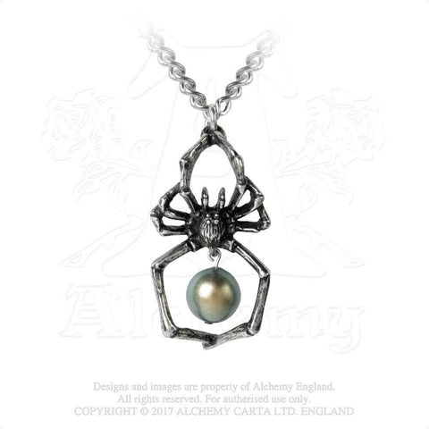 P790 - Glistercreep Spider Necklace by Alchemy of England - New