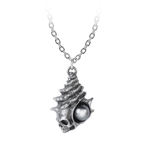 P861 - The Black Pearl of Plage Noire Pendant by Alchemy of England