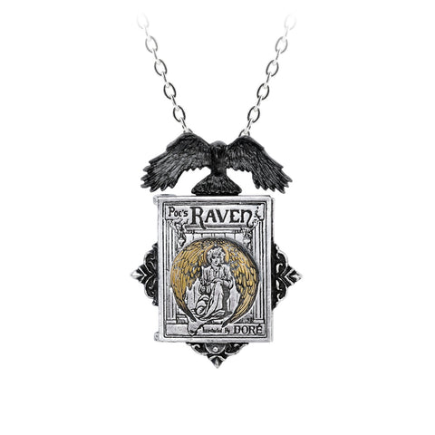 P897 - Poe's Raven Locket Necklace by Alchemy of England