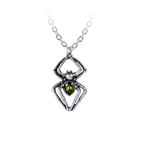 P904 - Emerald Spiderling Pendant by Alchemy of England