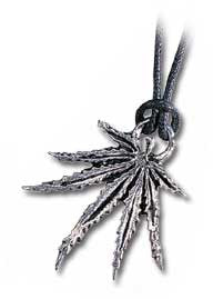 PP269 - Cannabis Leaf Official English Pewter Pendant by Alchemy Gothic