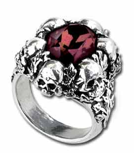 R105 - Shadow of Death Pewter Ring by Alchemy Gothic - Discontinued and Rare
