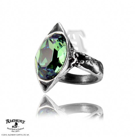 R120 - Absinthe Fairy Spirit Crystal Ring by Alchemy of England