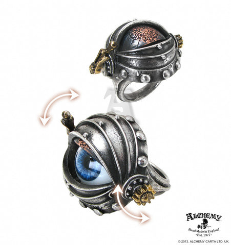 R178 - Automaton's Eye Ring by Alchemy of England