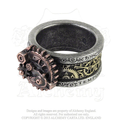 R200 - Quanta Mechanica Cosmonatallogy Steampunk Ring by Alchemy of England