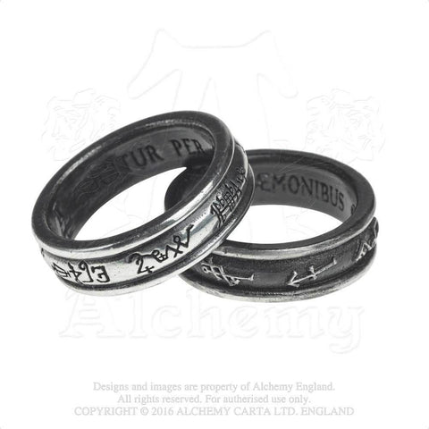 R212 - Demon Black & Angel White Ring by Alchemy of England - New