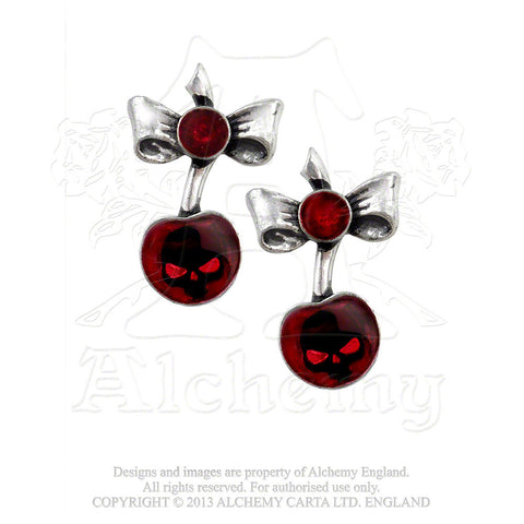 ULFE20 - Black Cherry Earrings by Alchemy of England