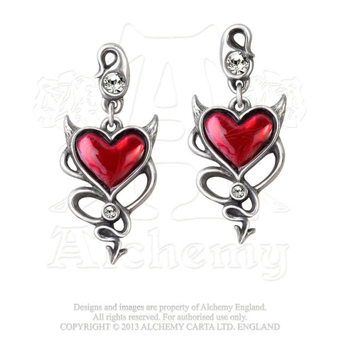 ULFE22 - Devil Heart Earrings by Alchemy of England