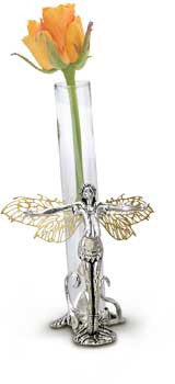 "GF3-Gothic Fairies~""Laurean"" Rose Vase From The Faerie Ring Collection by Alchemy - Rare"