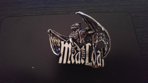 Meat Loaf Bat Out of Hell Official English Pewter Pin by Alchemy Poker