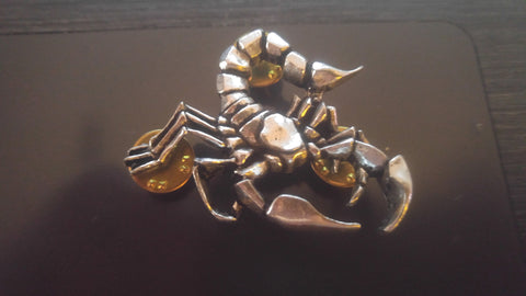 The Scorpions Official English Pewter Pin by Alchemy Poker