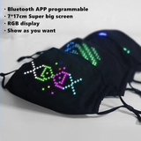 BIG LED Display Customizable Face Mask