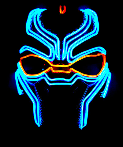 Black Panther Glow Mask