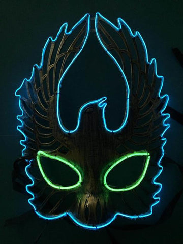Phoenix Neon Glow LED Cosplay Rave Mask