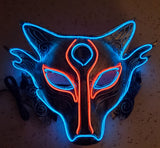 Rave Fox Neon LED Glow Mask