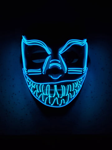 Purge Smiley Cosplay Halloween Glow Mask