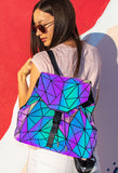 Holographic Geometric Color Changing Large Backpack