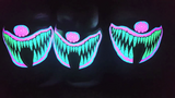 Sound Reactive Rave Clown LED Mask