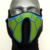 Sound Reactive Subzero LED Rave Mask
