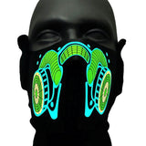 Sound Reactive Neon Gas LED Rave Mask
