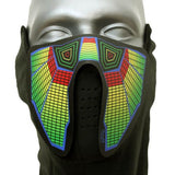 Sound Reactive Cyber Punk LED Rave Mask