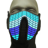 Sound Reactive Equalizer LED Rave Mask