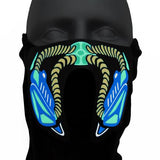 Sound Reactive LED Gas Mask