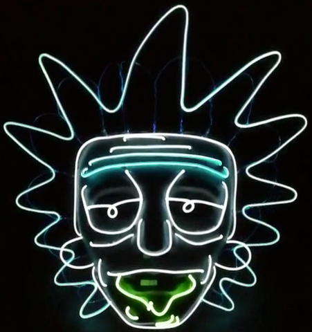 Rick and Morty Glow Mask