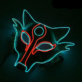 Neon Culture Rave Fox Mask