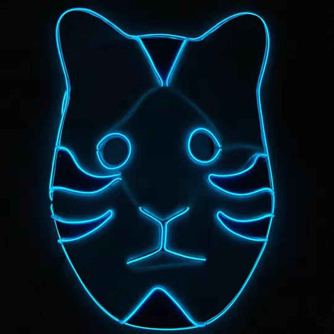Anbu Black Ops Neon Glow LED Rave Mask